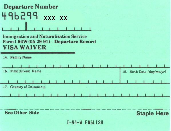 What is an I-94 Form - Arrival and Departure Record